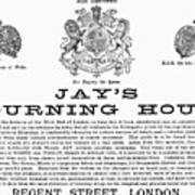 Mourning House, 1891 Poster