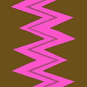 Moveonart Electricpink Poster