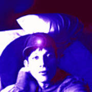 Moveonart Jacob In Blue Light Thinking Poster