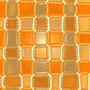 Moveonart Orange Bricks Poster