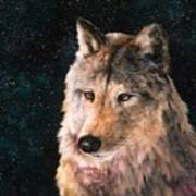 Moving Wolf Poster