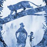 Mowgli, Baloo And Bagheera-blue Poster