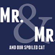 Mr And Mr And Cat Poster