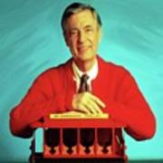 Mr Rogers With Trolley Poster