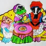 Mrs. Mouse Tea Party Poster
