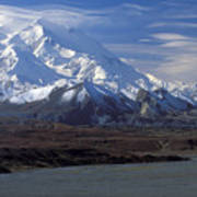 Mt. Mckinley And Lenticular Clouds Poster