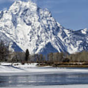 Mt Moran From Oxbow Bend Poster