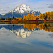 Mt Moran From The Ox Bow Poster
