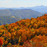 Mt. Pisgah From Crabtree Bald Poster