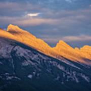 Mt Rundle Sunset Banff Poster