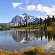 Mt Shuskan In Fall Poster