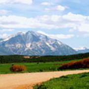 Mt. Sopris II - A Colorado Landscape Poster