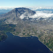 Mt. St. Helens Aerial 2225 Poster