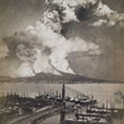 Mt. Vesuvius Erupting Poster