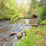 Mud Run, Pennsylvania, Pocono Mountain Stream Poster