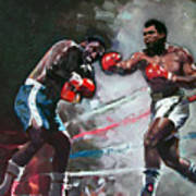 Muhammad Ali And Joe Frazier Poster