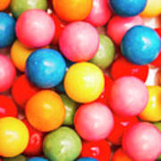 Multi Colored Gumballs. Sweets Background Poster