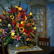 Multicolor Floral Arrangement Poster