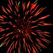 Multicolored Fireworks 2 Poster