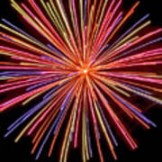 Multicolored Fireworks Poster