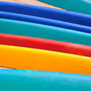 Multitude Of Surfboards Poster