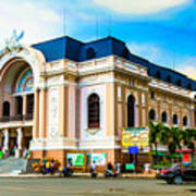 Municipal Theater Ho Chi Minh City Vietnam Poster