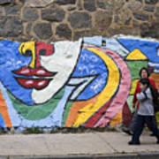 Mural In Valparaiso Poster