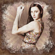 Muscle And Strength Pinup Poster Girl Poster