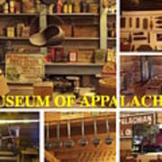 Museum Of Appalachia Block Collage Poster