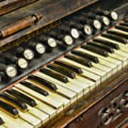 Music - Pump Organ - Antique Poster