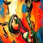Music Jazz Saxophone Poster