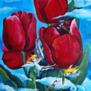 Musical Tulips Poster