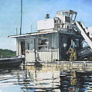 Mussel Harvest On Penn Cove Poster by Perry Woodfin