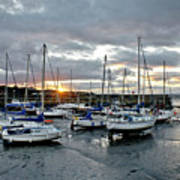 Musselburgh Marina In The Sunset. Poster