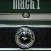 Mustang Mach 1 Emblem Poster