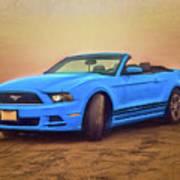 Mustang Ocean Shores Beach Poster