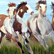 Mustangs Running Free Poster