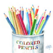 My Colored Pencils Poster