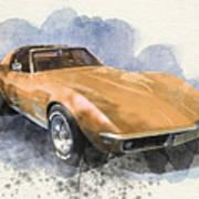 Orange Dream Car Poster