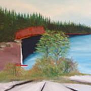 My Kayak Sitting On The Beach At Split Rock Poster