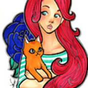 My Orange Cat Poster