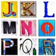 my own alphabet J to R Poster