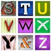 my own alphabet S to Z Poster