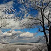 My Sunday Happy Holidays Card Poster
