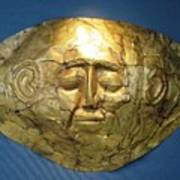 Mycenaean Gold Mask Poster