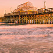 Myrtle Beach Apache Pier At Sunset Panorama Poster