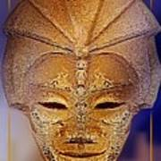 Mysterious Ancient  Asian Mask Poster
