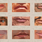 Mystery Mouths Of The Action Genre Poster by Mitch Frey