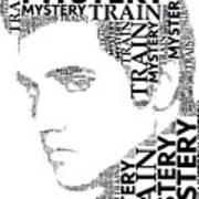 Mystery Train Elvis Wordart Poster