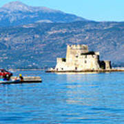 Naflion Greece Harbor Fortress Poster
